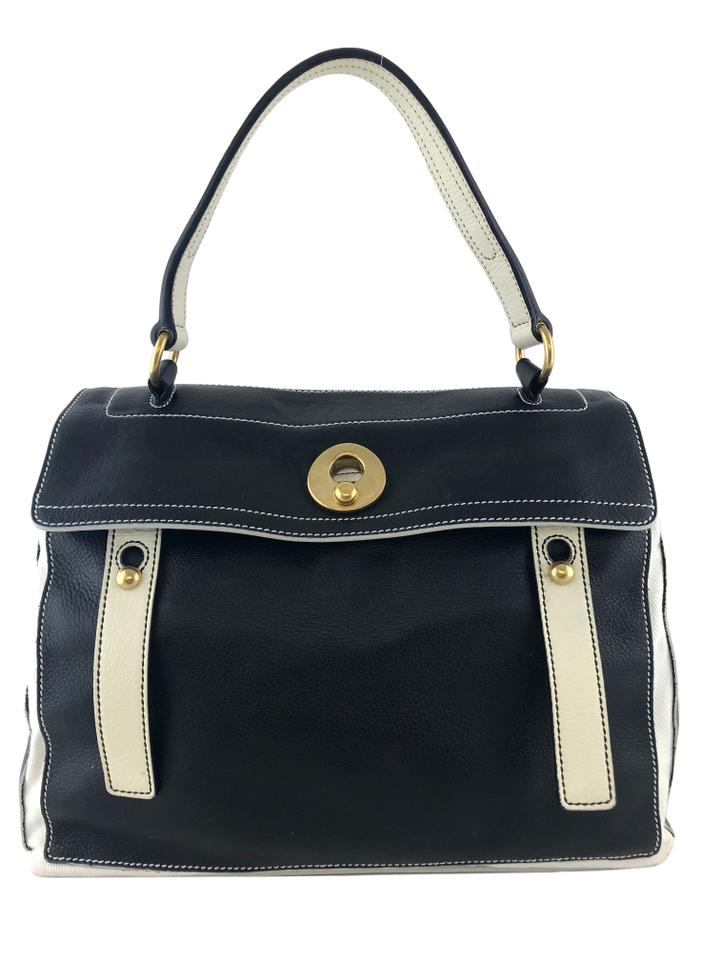 563175e501c9b Saint Laurent Muse Two Muse Blacl Leather Satchel - Tradesy