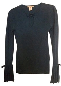 Nanette Lepore Pleated Bows Keyhole Sweater