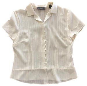 Kate Hill Silk Top Ivory
