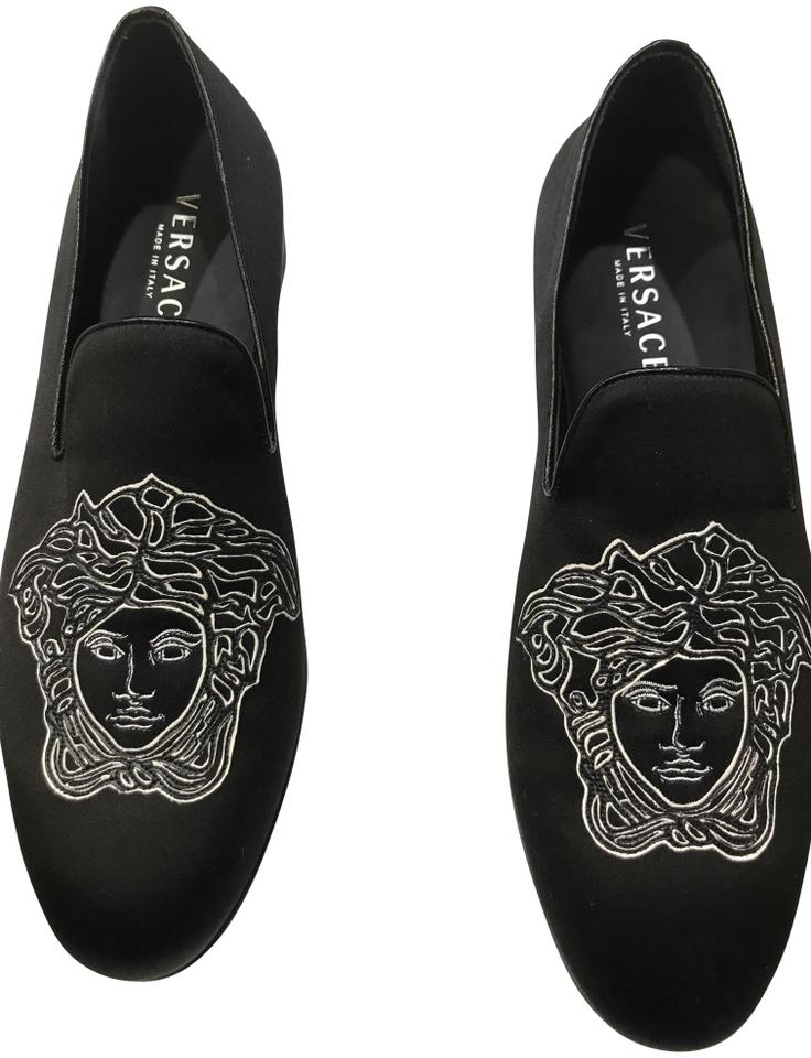 8dc9f0c53aa Versace Black Beverly Palm Satin Men.size 44. Formal Shoes Size US ...
