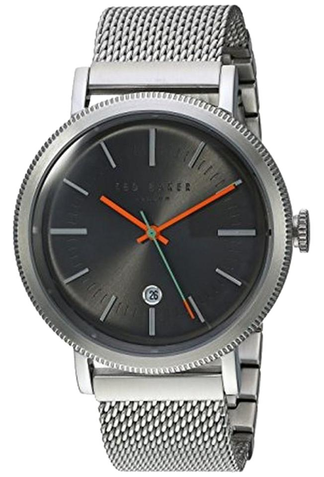 06e13481c Ted Baker 10031512 Men s Silver Mesh Bracelet with Black Analog Dial Watch