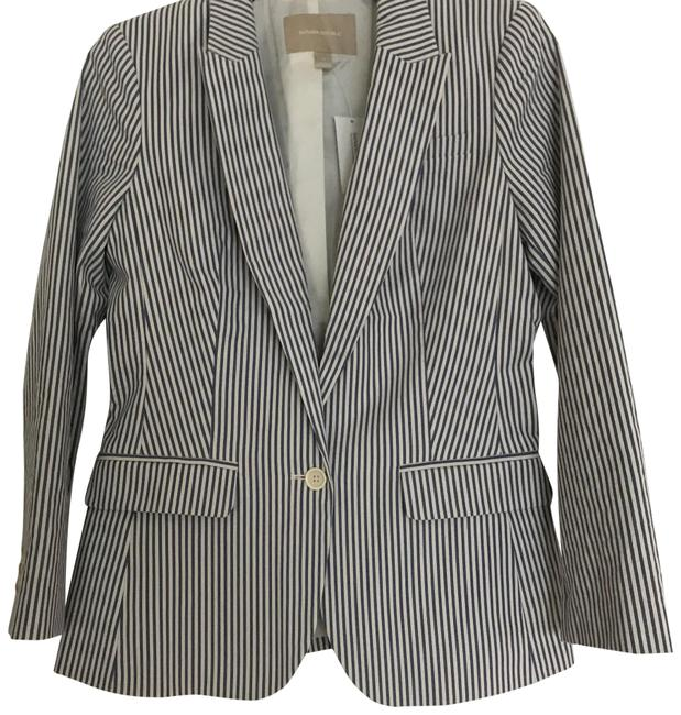Item - Blue and White 409852 Skirt Suit Size 4 (S)