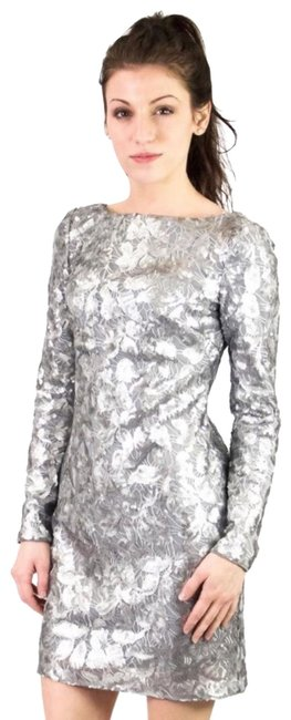 Item - Silver Leaf Sequin Short Night Out Dress Size 2 (XS)