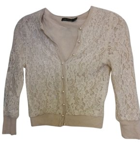 The Limited Lace Crop Beaded Sweater
