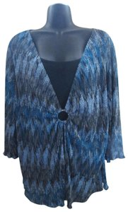 Notations Layered Spring Summer 1x Plus-size Top Multicolored