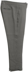 Etro & Patterned Cuffs Trouser Pants Black and white