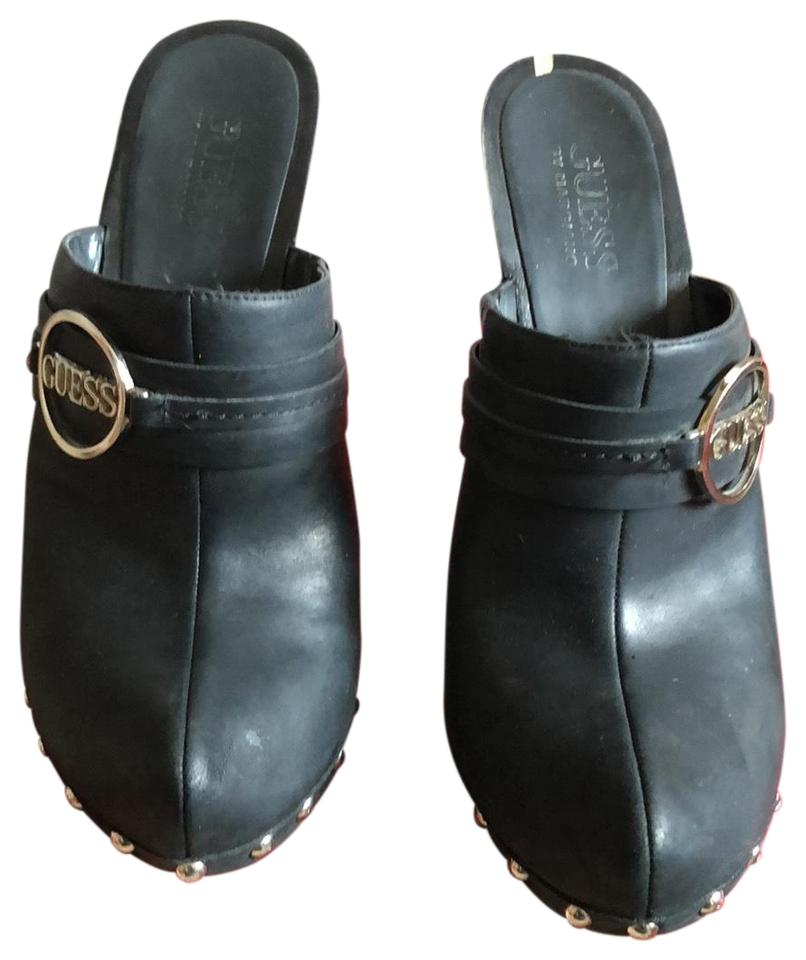 Guess 2 By Marciano Black Whitney 2 Guess Mules/Slides 30b5f0