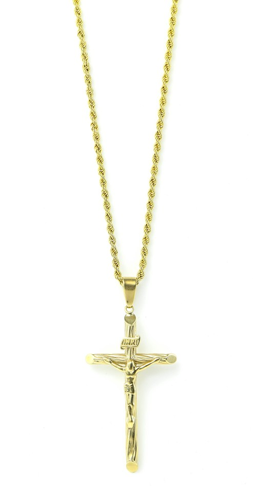 Yellow pendant necklace tradesy cross gold necklace cross pendant gold necklace aloadofball Images