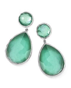 Ippolita Ippolita Mint Green Large Mother-of-pearl Wonderland Teardrop Earrings
