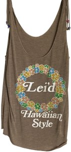 Development Vintage Top Beige/Writing