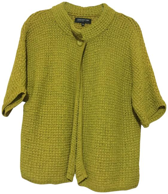 Preload https://img-static.tradesy.com/item/23164744/jones-new-york-mustard-one-button-ss-cardigan-size-12-l-0-1-650-650.jpg