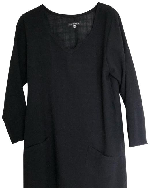 Preload https://img-static.tradesy.com/item/23164770/black-linen-34-length-sleeve-dresstunic-mid-length-short-casual-dress-size-8-m-0-1-650-650.jpg