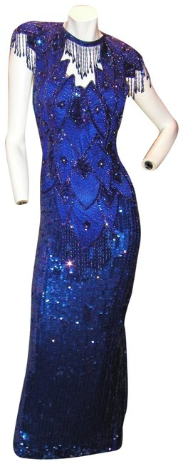 Just Female Pageant Prom Emblished Ball Gown Dress Image 3