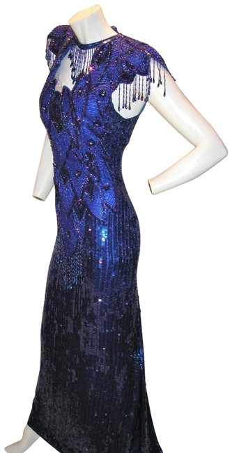 Just Female Pageant Prom Emblished Ball Gown Dress Image 4