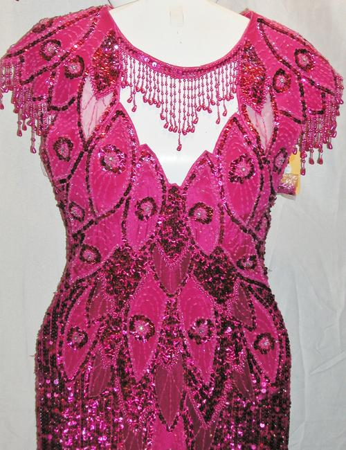 Just Female Pageant Prom Emblished Ball Gown Dress Image 5