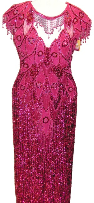 Just Female Pageant Prom Emblished Ball Gown Dress Image 6