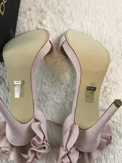 bebe Faux Suede Ankle Strap Party Pink Sandals Image 5