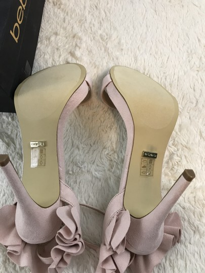 bebe Faux Suede Ankle Strap Party Pink Sandals Image 6