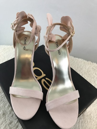 bebe Faux Suede Ankle Strap Party Pink Sandals Image 7