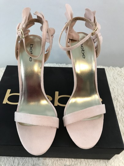 bebe Faux Suede Ankle Strap Party Pink Sandals Image 8