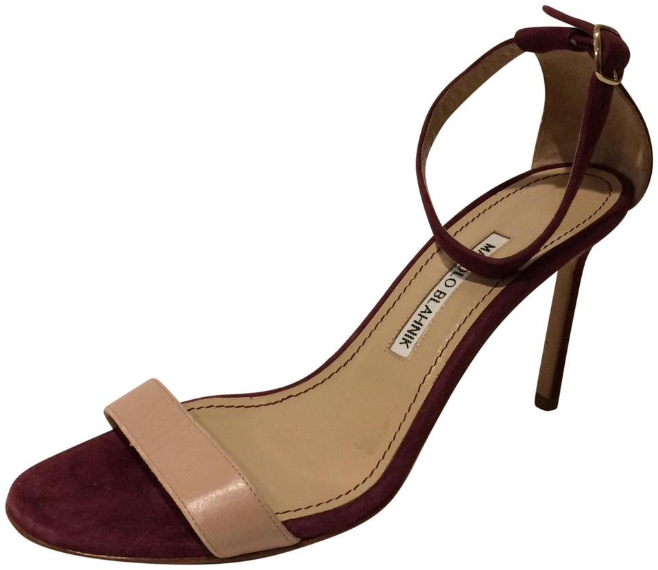 Manolo Blahnik New Ankle Suede Strap Leather and Suede Ankle Sandals 13b846