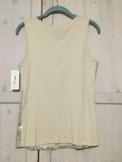 Style & Co Top Beige Image 1