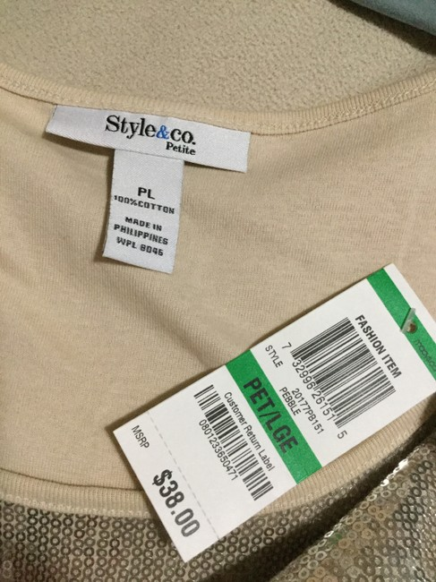 Style & Co Top Beige Image 2