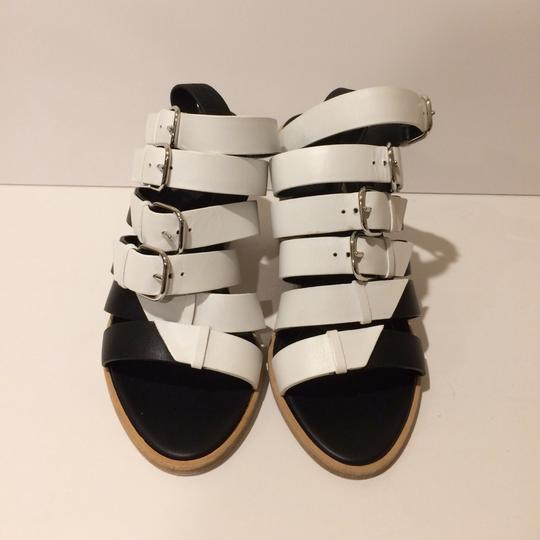 Balenciaga Black/White Sandals Image 3