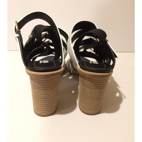 Balenciaga Black/White Sandals Image 6