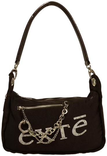 Other Rhinestone Patent Leather Canvas Shoulder Bag Image 0