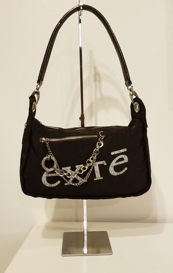 Other Rhinestone Patent Leather Canvas Shoulder Bag Image 1