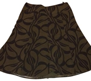 H&M Skirt Green and Black