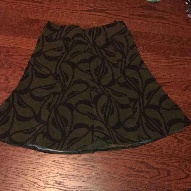 H&M Skirt Green and Black Image 1