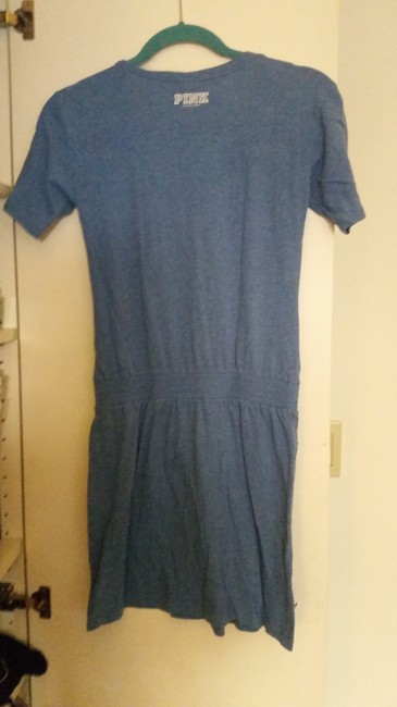 PINK short dress Blue T-shirt on Tradesy