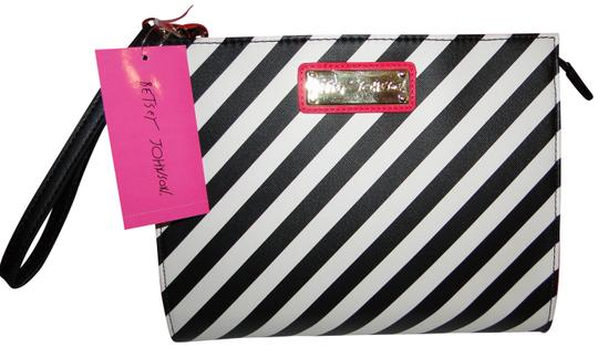 Betsey Johnson Lipstick Wristlet Cosmetic Bag Clutch Image 0