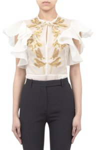Alexander McQueen Top Cream/White/Gold