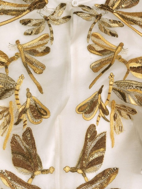 Alexander McQueen Top Cream/White/Gold Image 1