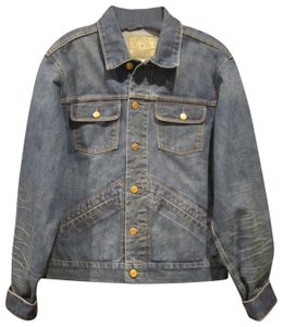 Polo Ralph Lauren Distressed Edges Stitch Design 1967 Shank Buttons Seamed Yokes Adjustable Back Tabs Womens Jean Jacket