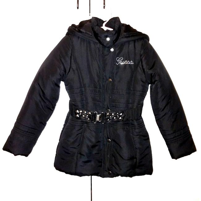 Preload https://img-static.tradesy.com/item/23165539/guess-black-and-silver-girl-s-stylish-belted-puffy-coat-sz6-maternity-outerwear-size-6-s-0-0-650-650.jpg