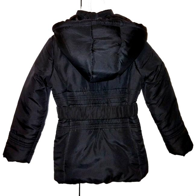 Guess Girl's Stylish Belted Black Puffy Coat Sz6 Image 1