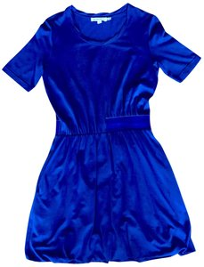 See by Chloé short dress Blue Slouchy Elastic Waist Designer Size 4 on Tradesy