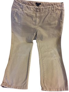 J.Crew Size 6 Distressed Crop Capris khaki