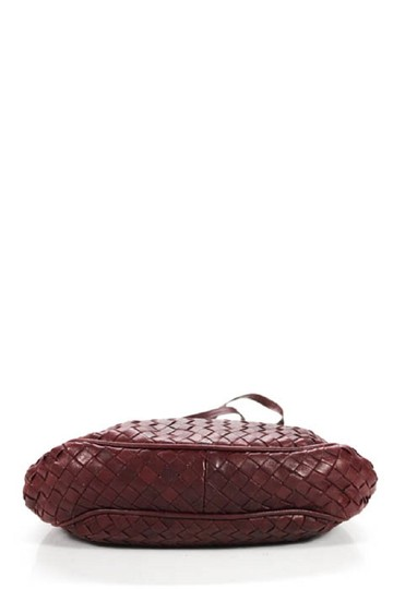 Bottega Veneta Rare Hinged Top Mint Vintage Hard Boxy Oval Intrecciato Style Satchel in woven ox blood burgundy leather Image 2