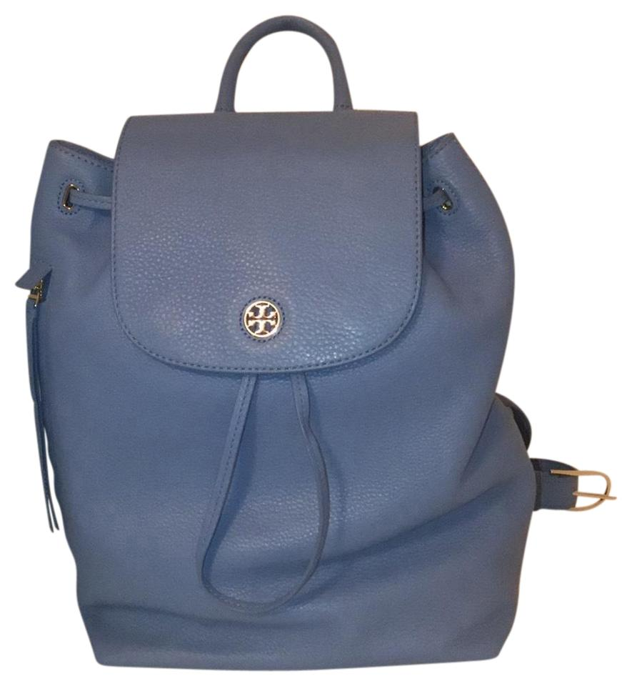 4baccb9979b5 Tory Burch Brody Montego Blue Leather Backpack - Tradesy