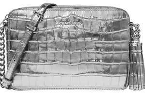 Michael Kors Embossed Leather Ginny Camera Mother's Day Spring Cross Body Bag