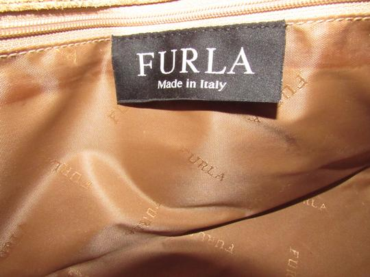 Furla Great Everyday Mint Vintage Dressy Or Casual Or Tan Color Early Style Shoulder Bag Image 5