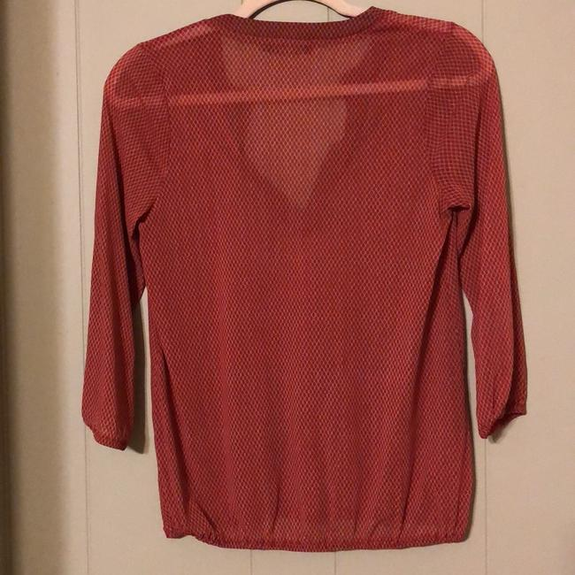 The Limited Top red and tan Image 4