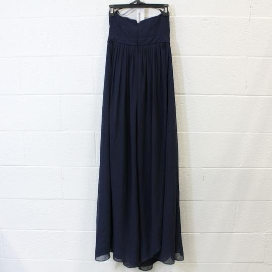 Jenny Yoo Navy Chiffon Aidan Formal Bridesmaid/Mob Dress Size 6 (S) Image 1
