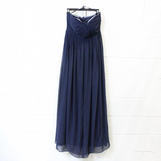Jenny Yoo Navy Chiffon Aidan Formal Bridesmaid/Mob Dress Size 6 (S) Image 2