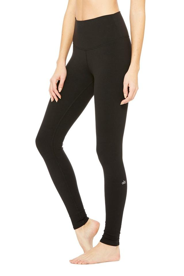 7002448cfd7bb Alo Black High-waist Airbrush Highline Activewear Bottoms Size 4 (S ...